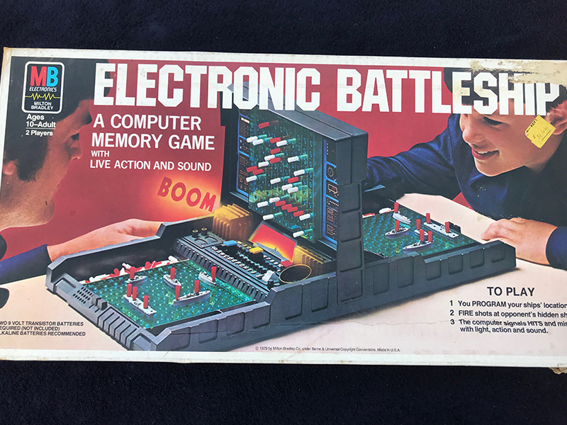 Vintage 1982 Milton Bradley Mb Electronic Battleship Original Box Code Book Goedenoldies