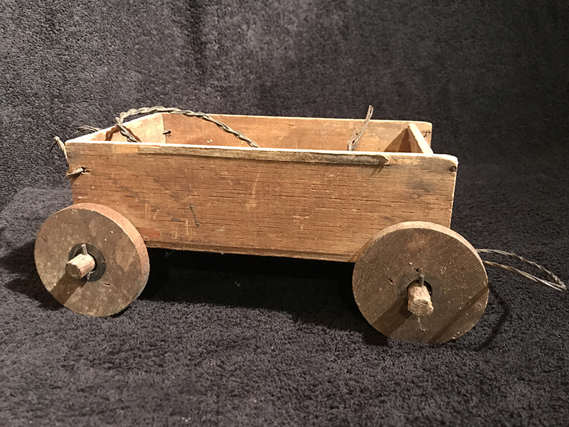 Antique 1920s Childs Handmade Wooden Wagon Superior